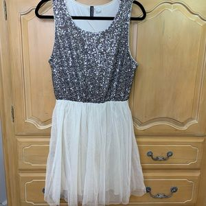Holiday sequin & tulle mini dress from H&M